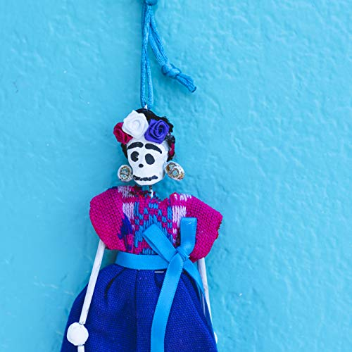 Buena Christmas Decoration Ornament. La Catrina. Mexican Art. Calavera. Cute Xmas Decorations. Calaveras Decorations. Vintage Party Day of The Dead Decor. Car Hanging Decorations. Purple