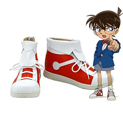 Bromeo Detective Conan Case Closed Unisexe PU Cuir Salut-Top Sneaker Baskets Mode Chaussures