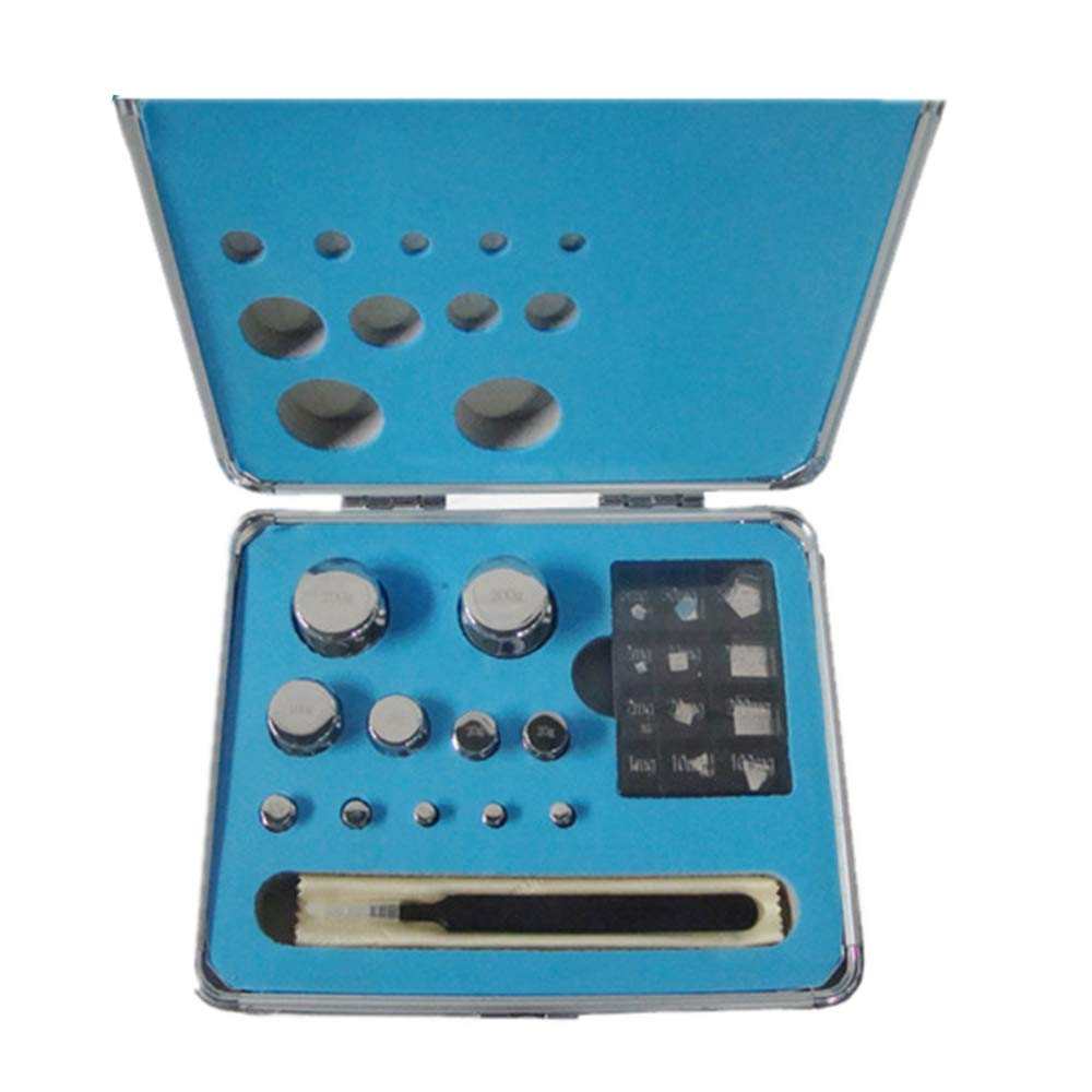 CGOLDENWALL F1 Scale Balance Calibration Weight Set Balance Weight Kit Set for Digital Balance Scale Jewellery Scale Electronic Lab Scale Scale Accessories (1mg/200g)