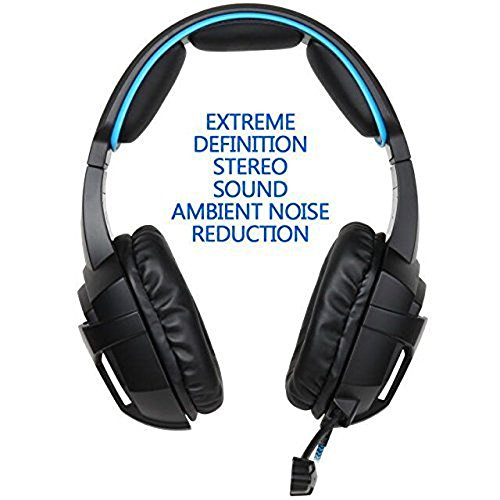 Amazon.com: SADES SA807 Version Stereo Gaming Headset 3.5mm Wired with Mic and Volume Control for PS4/PC/Mac/New Xbox one/Laptop/iPad/iPod (Black/Blue): ...