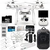 DJI Phantom 3 Advanced Quadcopter Drone w/ 1080p HD Video Camera & Manufacturer Accessories + DJI Propeller Set + Water-Resistant Hardshell Backpack + 7PC Filter Kit (UV-CPL-ND2-400-Lens Hood-Stabilizer) + MORE
