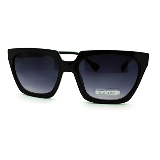 d5831790ff0 Flat Top Square Sunglasses Thorn Studs Design Trendy Stylish Shades (black