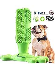 Lsnisni Spazzolini per Cani, 360 ° Massaggiatore per la Pulizia dei Denti dei Cani, Giocattolo da Masticare per Animali Domestici, Gomma Non tossica Naturale, FDA