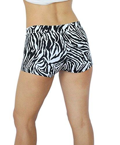 Ujena Zebra - UjENA Fit Sexy Zebra Print Active Booty Shorts - 1X