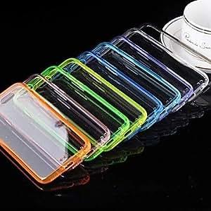 ZMY caso suave del tpu lucencia acrílico para iphone 6 (colores surtidos) . Light Blue