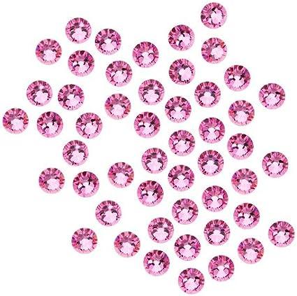 Strass en cristal SWAROVSKI ELEMENTS, #2058 dos plat, 4 mm, 50 pièces, rose