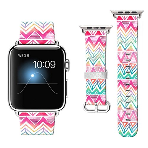 38 mm Apple Watch Band, Watchbands for Apple Watch, Apple Watch Bands Compatible with Apple Watch Nike+ Series 2 Series 1 Sports Edition Aztec pink