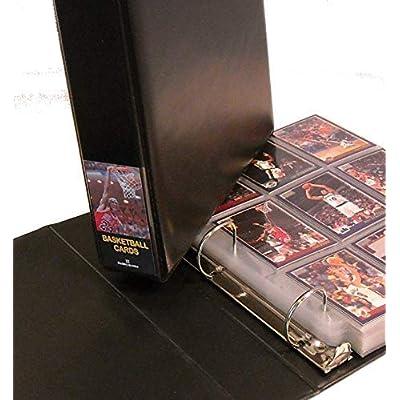 Hobbymaster Basketball Card Album with 25 Pages, Black Michael Jordan Design (BlackJordan): Sports & Outdoors