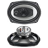 BOSS Audio R94 Riot 500-Watt 4-Way Auto 6x9-Inch Coaxial Speaker