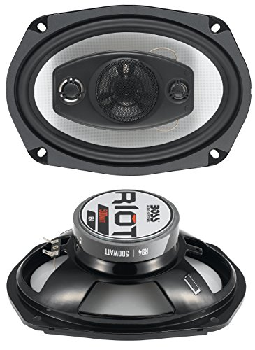 att (Per Pair), 6 x 9 Inch, Full Range, 4 Way Car Speakers (Sold in Pairs) (Plymouth Neon Base)