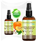 ORGANIC PUMPKIN SEED OIL Australian. 100% Pure / Natural / Undiluted /Unrefined Cold Pressed Carrier Oil. 2 Fl.oz.- 60 ml. For Skin, Hair, Lip And Nail Care. 'One Of The Richest Sources Of Enzymes, Fatty Acids, Iron, Zinc, Vitamins A, C, E And K'. by Botanical Beauty.