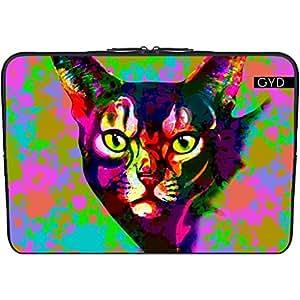 """Funda de neopreno portátil 13.3"""" pulgadas - Gato Psicodelia Pop-art by BluedarkArt"""