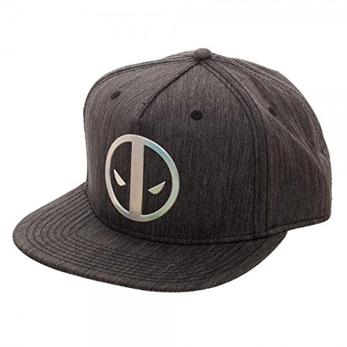 Marvel Deadpool Logo Adult Sized Iridescent Weld Woven Snapback Hat]()
