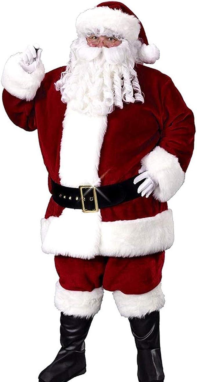 Amazon.com: Disfraz de Papá Noel de Navidad para hombre ...