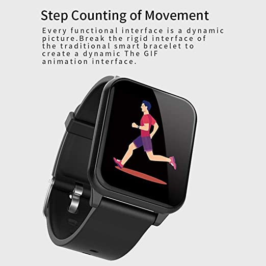 Amazon.com: Bluetooth Smart Bracelet Fitness Tracker Activity Compatible with iOS and Android, nRF52832 chip, IP67 waterproof, support mobile phone message ...