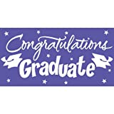 Creative Converting Congrats Grad Paper Art Gigantic Greetings, Purple