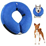 Protective Inflatable Pet Collar for Dogs and Cats Soft E-Collar Cone for Surgery Prevent Pets From Touching Stitches (Large)