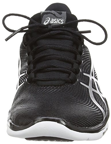 Gel Sneakers Da white silver Donna Nero black Asics fit Sana 9093 2 dpxw4Aqg