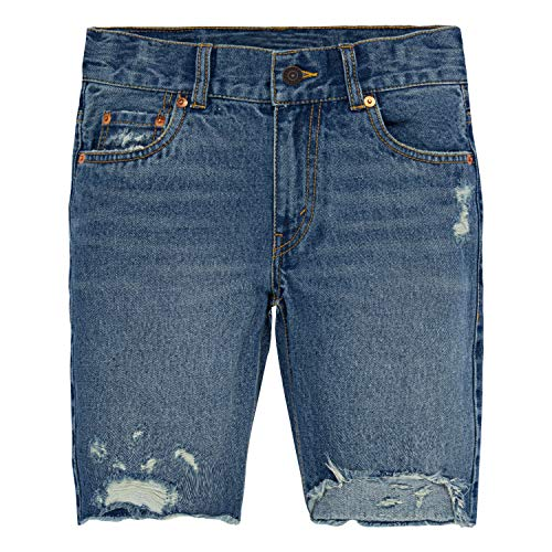 Levi's Big Boys' 511 Slim Fit Denim Shorts, Runaway,16 (Boys Jean Shorts Size 16)