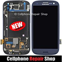 For Samsung Galaxy S3 SGH-i747 T999 ~ Blue AMOLED LCD Touch Screen Display+Frame ~ Mobile Phone Repair Part Replacement