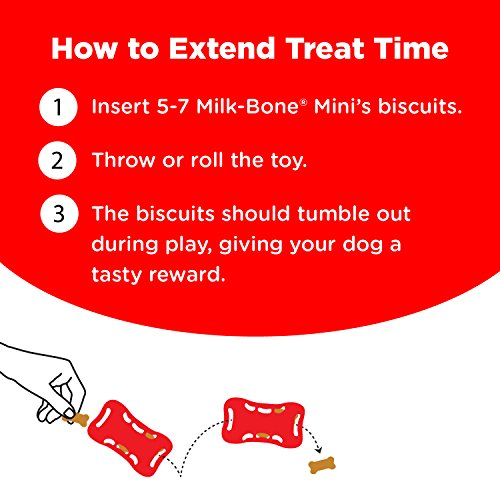 Milk-Bone Active Treat Tumbler, Interactive Dog Treat Dispensing Dog Toy, Medium