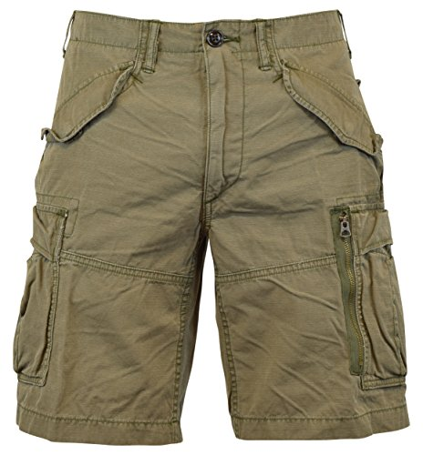 100 Cotton Mountain Short (Polo Ralph Lauren Men's Classic-Fit Ripstop Cotton Cargo Shorts - 30 - Mountain Green)