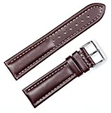 Breitling Style Oil Tanned Leather Watchband | 19mm Brown