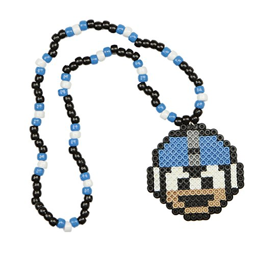 [Mega Man Kandi Necklace, Perler Necklace, Rave Accessories, Beaded Necklaces halloween] (Adult Megaman Costumes)