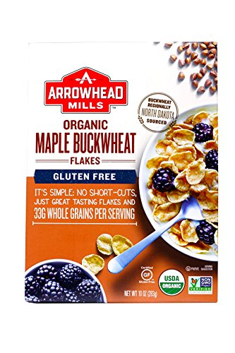 Arrowhead Mills Organic Maple Buckwheat Flakes, 10 Ounce Box ()