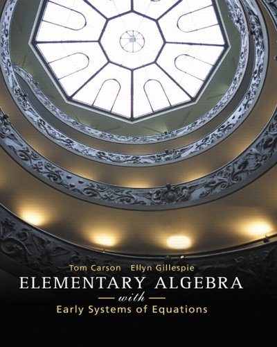 Elementary Algebra with Early Systems of Equations