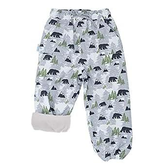 JAN & JUL Kids Water-Proof Fleece-Lined Rain Pants - Brown - 8T