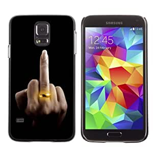 Licase Hard Protective Case Skin Cover for Samsung Galaxy S5 - Funny The Finger LOL