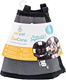 ZenPet ProCone Pet E-Collar for Dogs and Cats - Comfortable Soft Recovery Collar is Adjustable for a Secure and Custom Fit - Easy for Pets to Eat and Drink - Works with Your Pet's Collar - Small