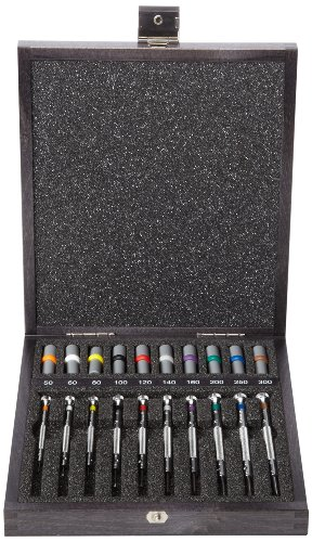 Bergeon 55-606 30009 Set of 9 Screwdrivers with 9 Tubes with Spare Blades in Wooden Box Watch Repair Kit by Bergeon (Image #4)