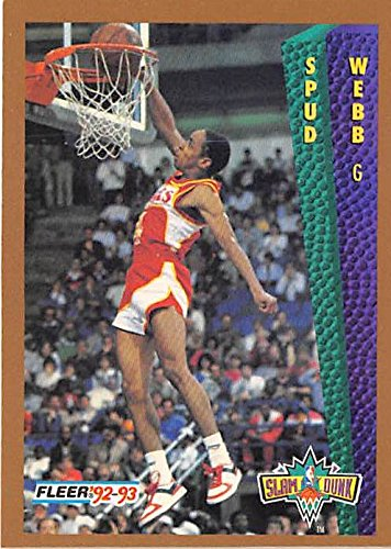 8853283d7 Spud Webb basketball card (Atlanta Hawks) 1992 Fleer  278 Slam Dunk ...