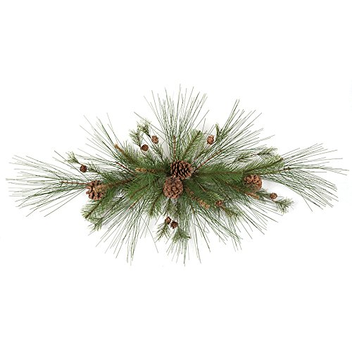 42'' Wide Artificial Mixed Pine & Pinecone Swag -Green/Brown (pack of 6) by SilksAreForever