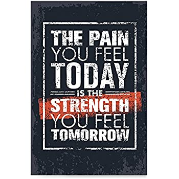 Motivational Quote Inspirational Typography Poster Print The Pain You Feel