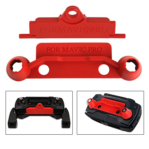 Honsky Mavic Remote Controller Joystick/Screen Protector + Lanyard Bracket Hanger Strap Connecting Hook, RC Transmitter Rocker Transport Cover Clip Guard Accessories for DJI Mavic Pro Drone, Red