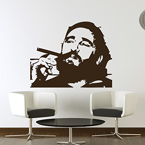 ofile Icons & Celebrities Wall Stickers Home Decor Art Decal available in 5 Sizes and 25 colors X-Large Moss Green (Fidel Castro Color)