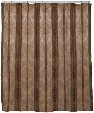 "Croscill CHESAPEAKE Fabric SHOWER CURTAIN  70/""x72/"" Solid Gold Pleated Top//Bottom"
