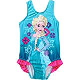 Toddler Girls Blue Frozen One Piece Bathing Swimsuit -- Elsa (2T)