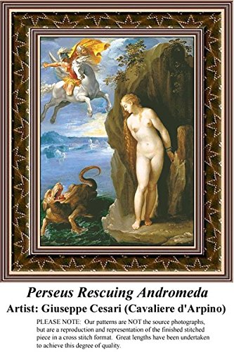 Perseus Rescuing Andromeda, Fine Art Counted Cross Stitch Pa
