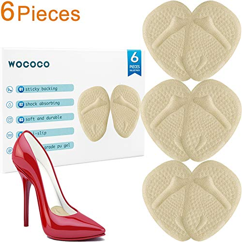 Ball of Foot Cushions Metatarsal Pads Inserts for Women High Heels (3 Pairs) All Day Pain Relief and Comfort Reusable Soft Forefoot Pads for Women Shoe