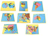 NEW Montessori Geography Package 1 - Set of 8 small board maps (with USA) by PinkMontessori