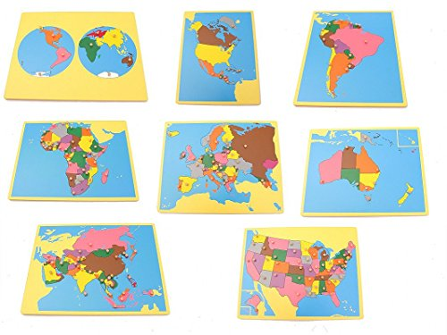 NEW Montessori Geography Package 1 - Set of 8 small