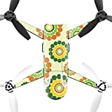MightySkins Protective Vinyl Skin Decal for Parrot Bebop 2 Quadcopter Drone wrap cover sticker skins Flower Power1
