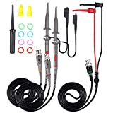 AUTOUTLET P6100 Universal Oscilloscope Probe with Accessories Kit 100MHz Oscilloscope Clip Probes with BNC to Minigrabber Test Lead Kit