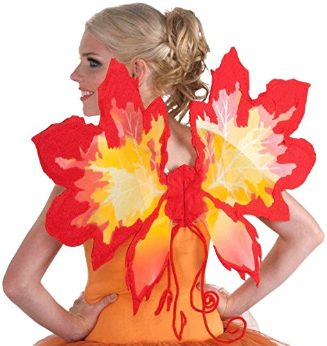 Forum Novelties Women's Fantasy Fairies Autumn Leaf Wings, Red, One Size -