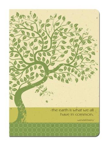- Tree-Free Greetings Journal, 160 Ruled Pages, Recycled, 5.5 x 7.5 Inches, Earth Tree, Multi Color (72100)