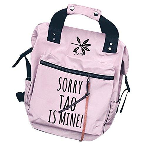 Book case set Shoulder Bag Kpop Backpack Tao Bags Canvas pencil pink Backpack Schoolbag EXO Messenger qPnzIgPt1w